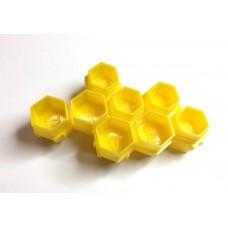 """Колпачки под краску """"Пчелиные соты"""" желтые"""